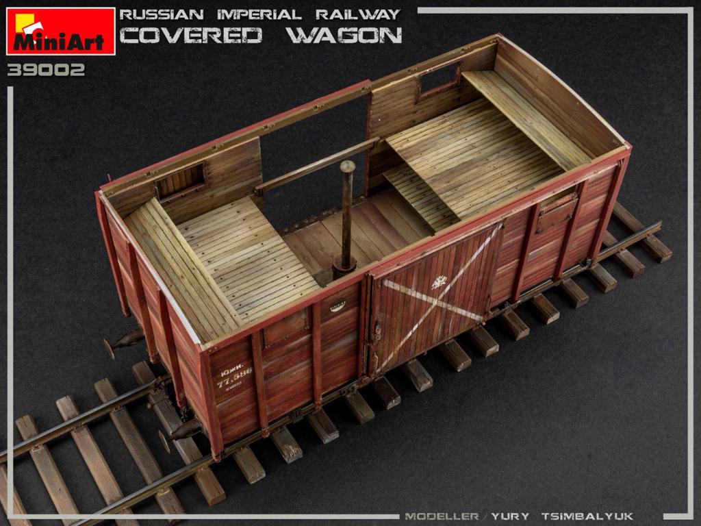 Vagón cubierto de Ferrocarril Imperial Ruso (Vista 9)