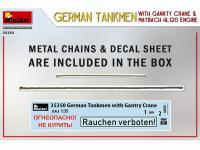 Tanquistas Alemanes con grúa de pórtico y motor Maybach HL 120 (Vista 8)