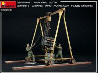 Tanquistas Alemanes con grúa de pórtico y motor Maybach HL 120 (Vista 9)