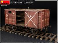 Vagón cubierto de Ferrocarril Imperial Ruso (Vista 17)