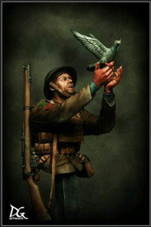 War Pigeon, British army Great war serie  (Vista 1)