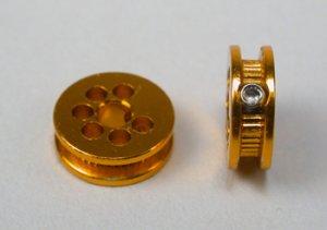 Polea Alumino mecanizado 6.5mm diam. par  (Vista 2)