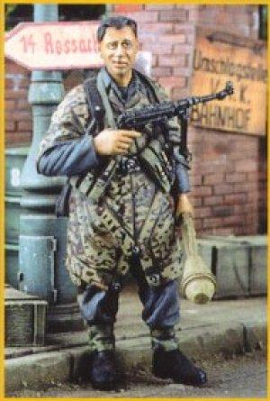 Soldado de infantería alemán en poncho  (Vista 1)