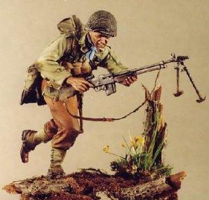Soldado USA corriendo con BAR 1944  (Vista 1)