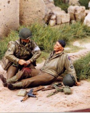 Medic and Wound 30 ID US juin 1944  (Vista 1)