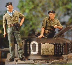Tanquistas Britanicos Junio 1944  (Vista 1)
