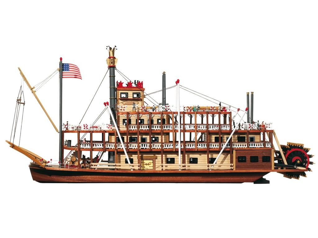 Missisipi - Vapor Fluvial Americano 1850  (Vista 2)