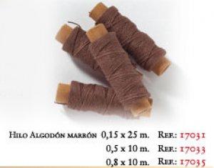 Hilo Algodon Marron 0.5 x 10 mtr.  (Vista 1)