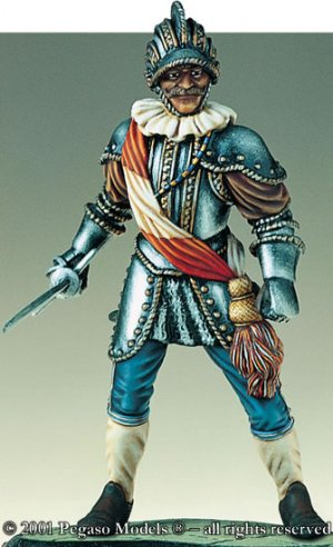 Polish Nobleman with armour, XVI c.  (Vista 1)