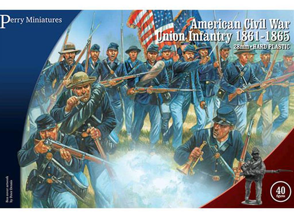 Infantería de la Unión de la Guerra Civil Americana 1861-65 (Vista 1)