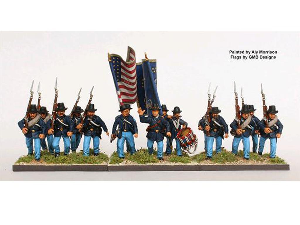 Infantería de la Unión de la Guerra Civil Americana 1861-65 (Vista 2)