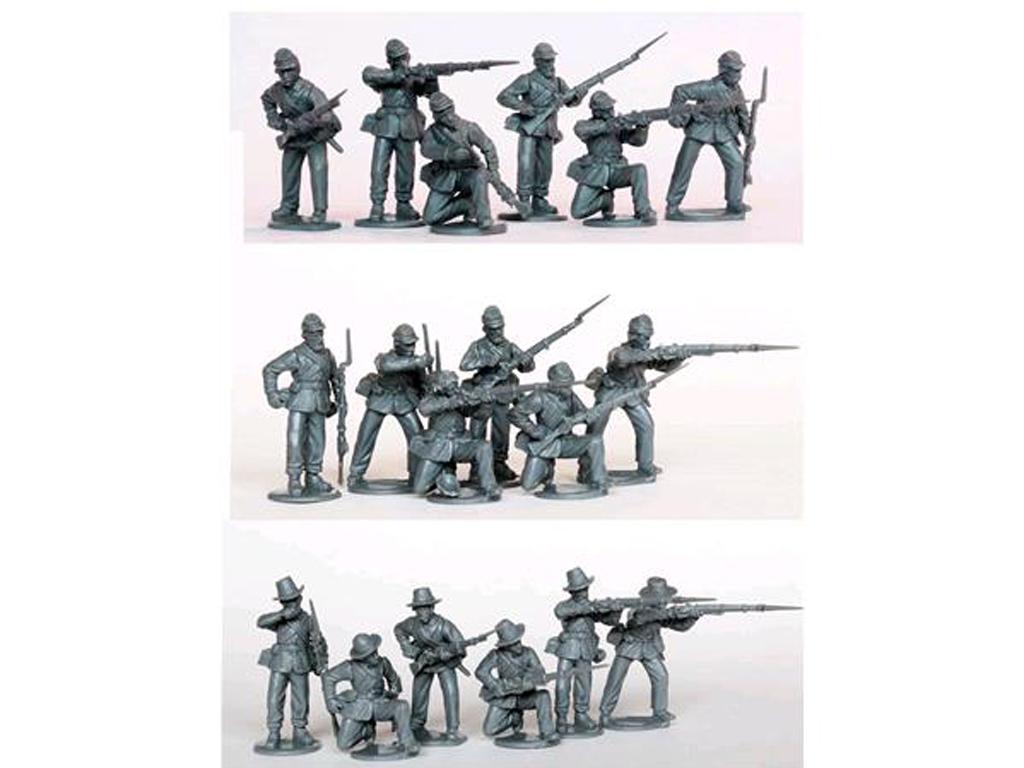 Escaramuzas de la Infantería de la Unión (Vista 2)