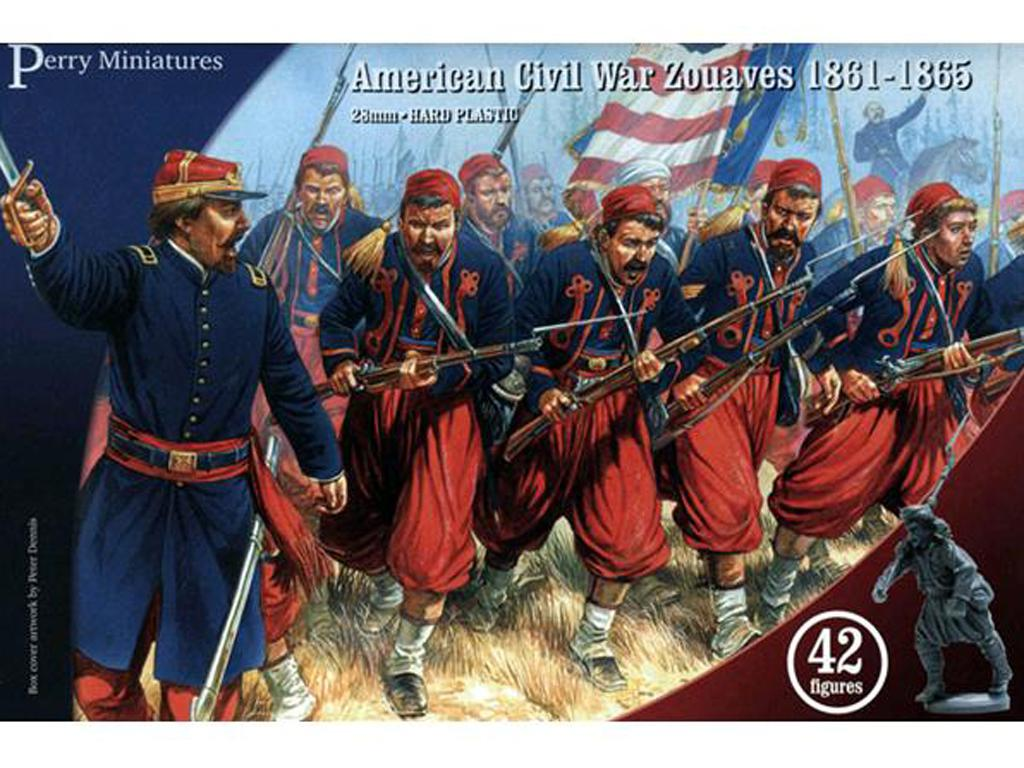 Zuavos de la Guerra Civil Americana 1861-65 (Vista 1)