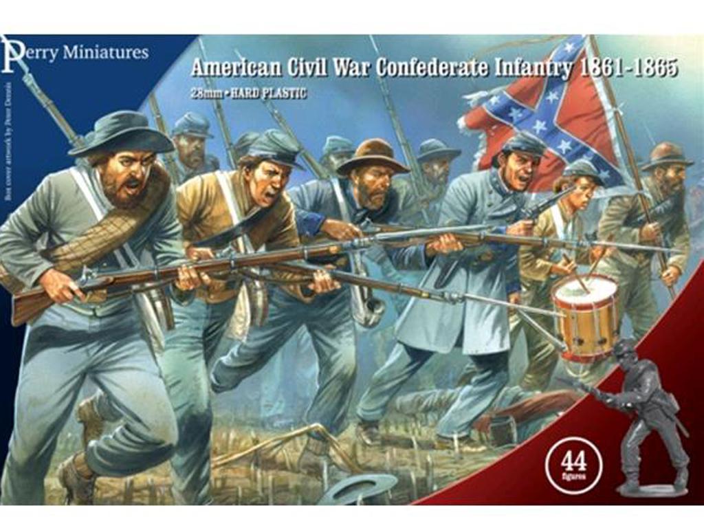 Guerra Civil Americana Infantería Confederada 1861-65 (Vista 1)