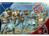 Guerra Civil Americana Infantería Confederada 1861-65 (Vista 2)