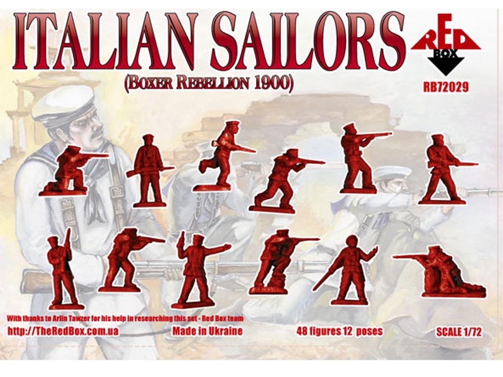Marineros Italianos rebelión Boxer 1900  (Vista 2)