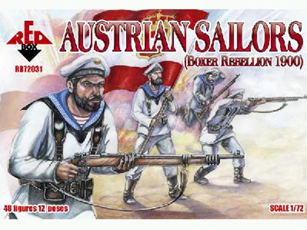 Marineros Austriacos rebelión Boxer 1900  (Vista 1)