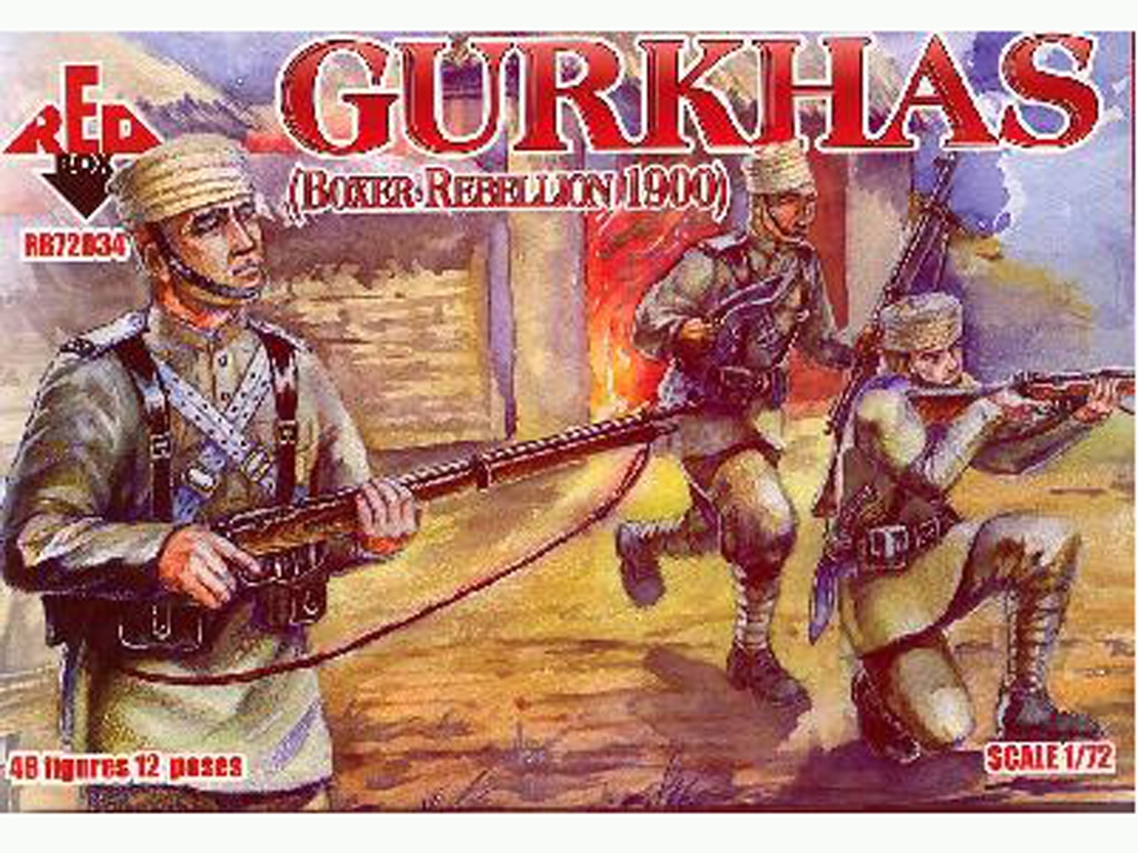Gurkhas Ejército Colonial Británico rebe  (Vista 1)