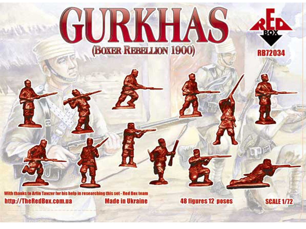 Gurkhas Ejército Colonial Británico rebe  (Vista 2)