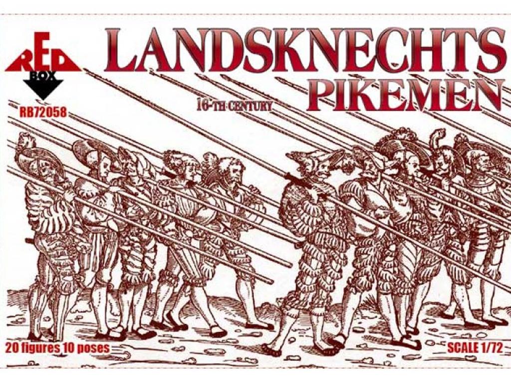 Landsknechts Pikemen siglo XVI  (Vista 1)