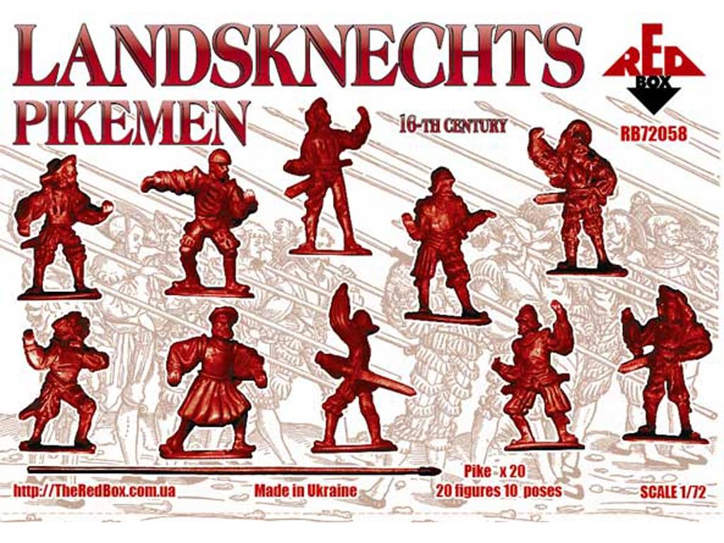 Landsknechts Pikemen siglo XVI  (Vista 2)