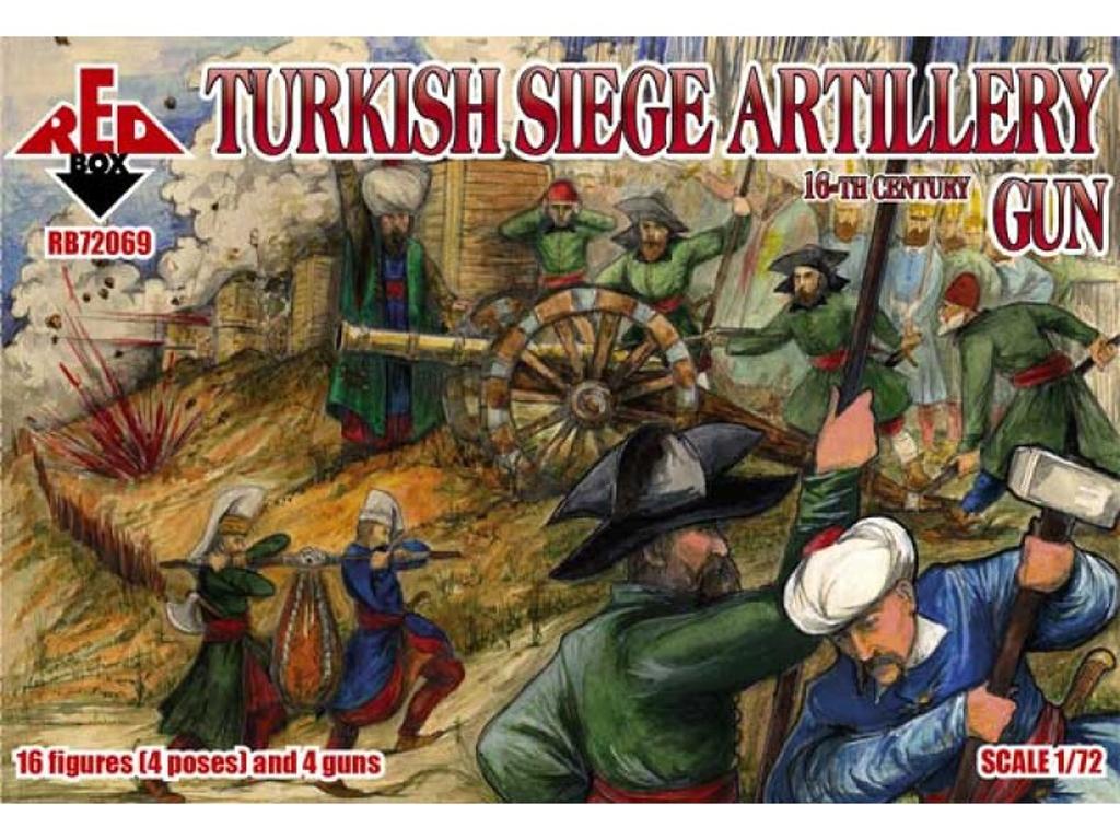 Artillería de Asedio Turca. Cañones , Si  (Vista 1)