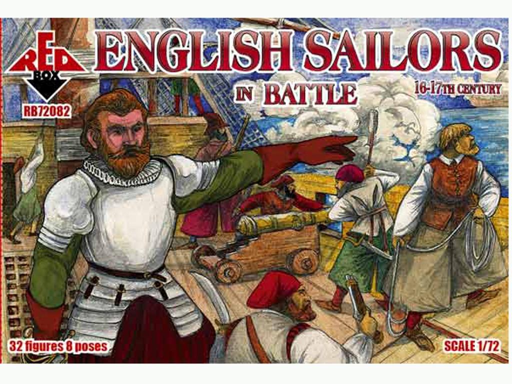 Marineros Ingleses en batalla siglo 16-1  (Vista 1)