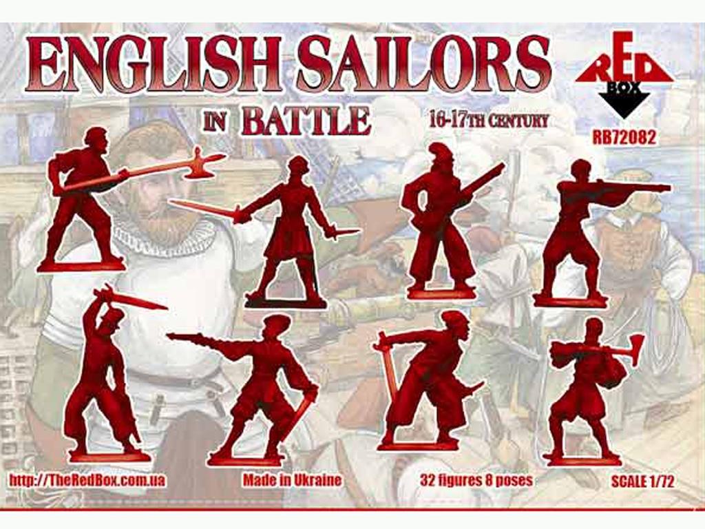 Marineros Ingleses en batalla siglo 16-1  (Vista 2)