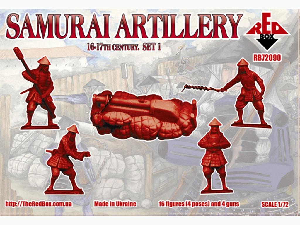Artillería Samurai Siglo XVI-XVII Set 1  (Vista 2)