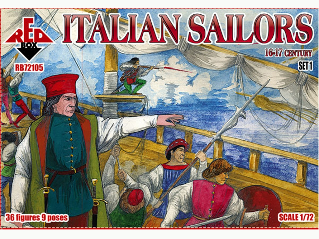 Marineros Italianos Set 1 Siglo XVI-XVII  (Vista 1)