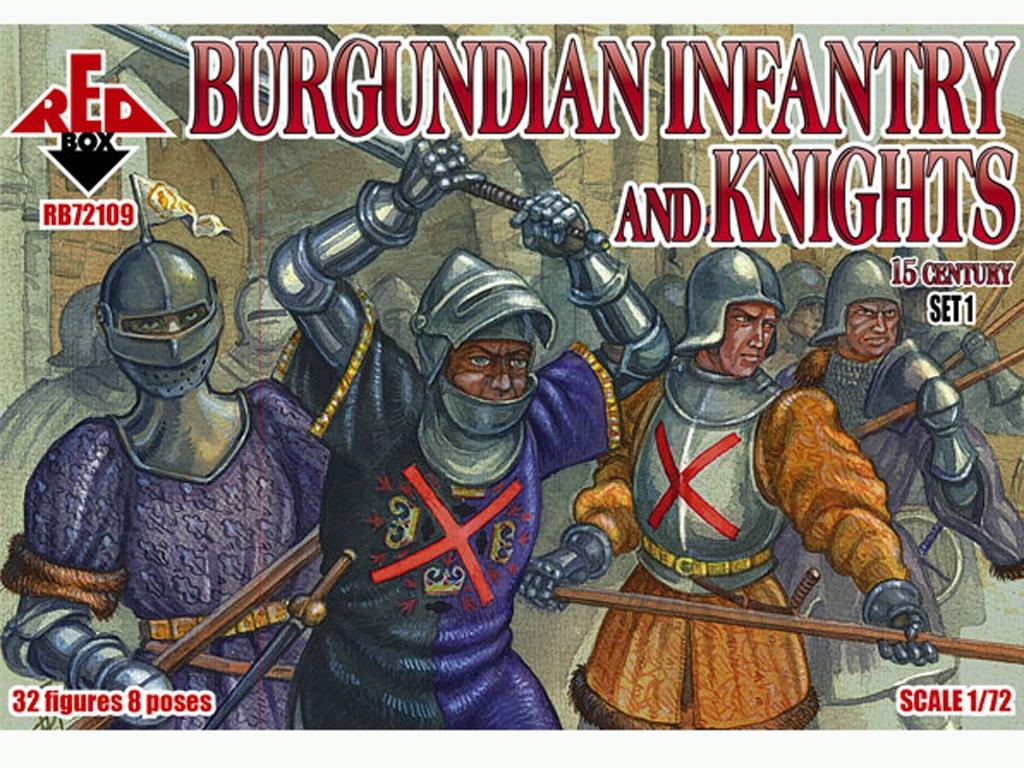 Infantería y Caballeros de Borgoña Set 1  (Vista 1)