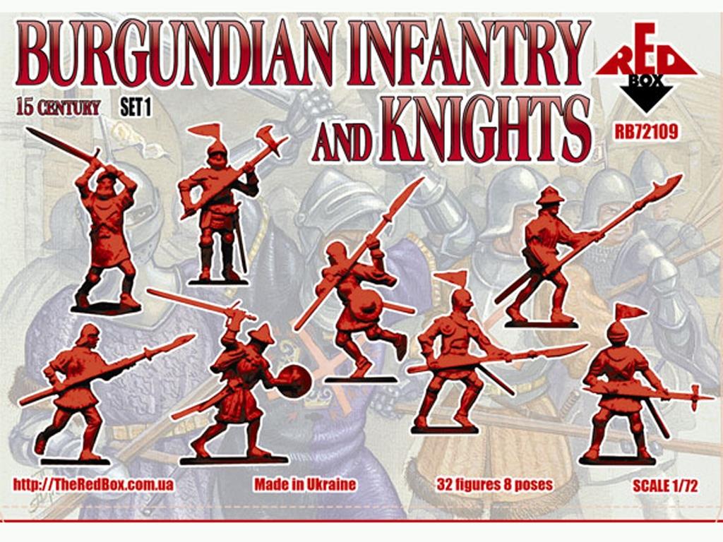 Infantería y Caballeros de Borgoña Set 1  (Vista 2)