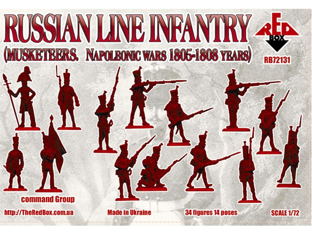 Infantería Rusa de línea (mosqueteros) 1805-1808 (Vista 2)