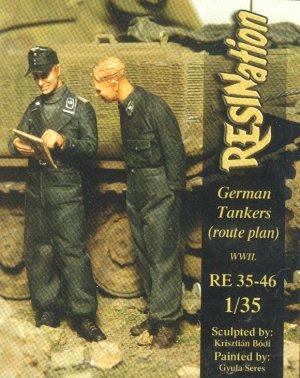 Tanquistas Alemanes consultando el mapa - Ref.: RESI-03546
