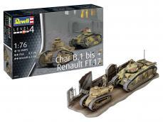 Char B.1 bis & Renault FT.17 - Ref.: REVE-03278