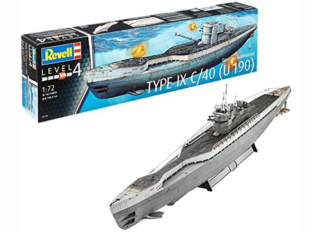 Submarino Aleman TYPE IX C/40 (Vista 1)