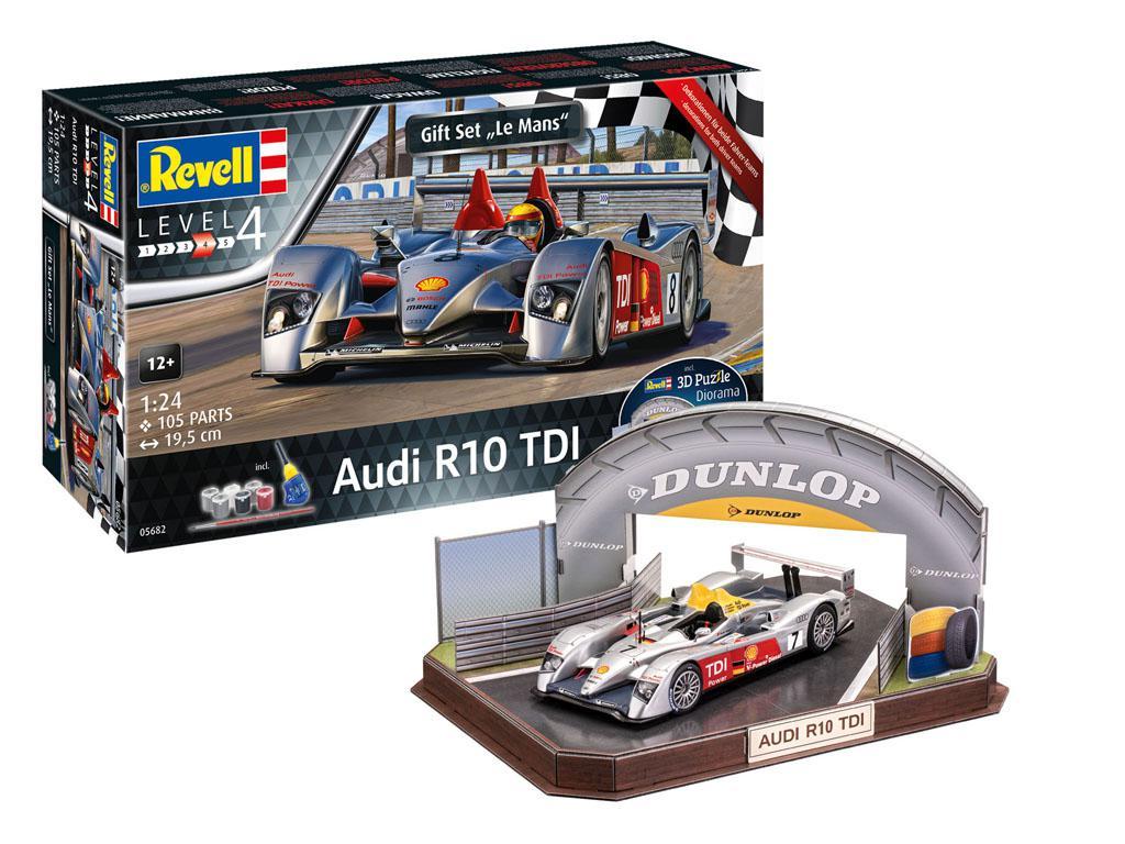 Audi R10 TDI Le Mans + 3D Puzzle Diorama (Vista 1)
