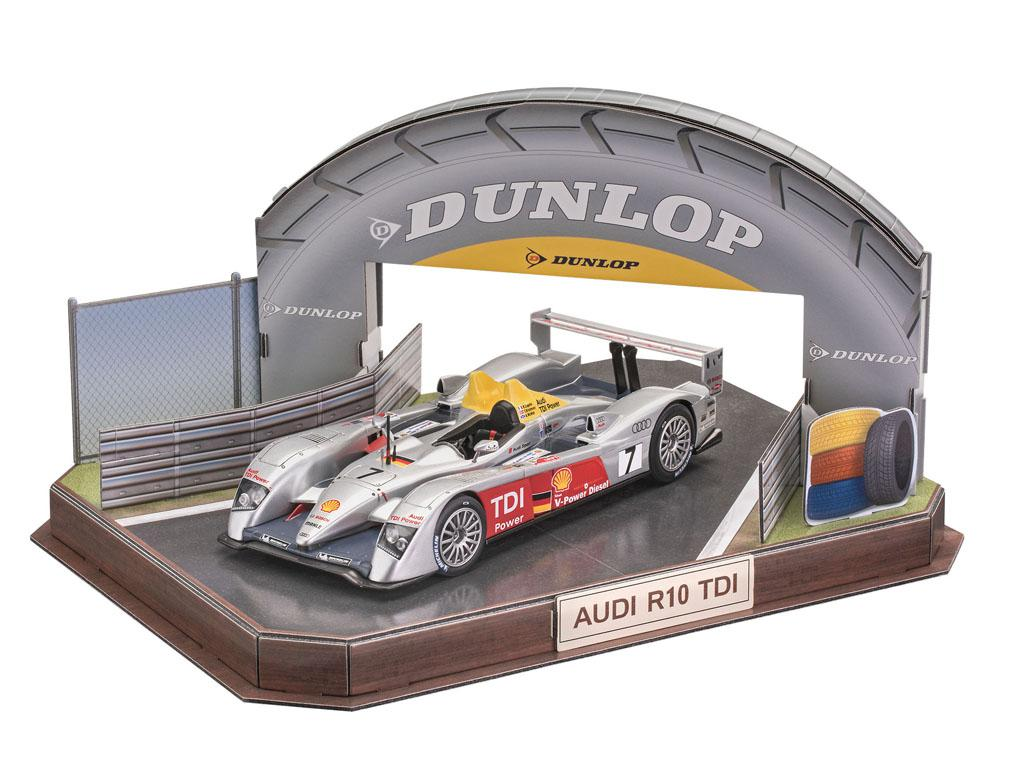 Audi R10 TDI Le Mans + 3D Puzzle Diorama (Vista 3)