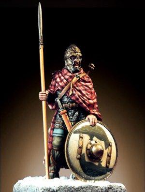Anglosajón Guerrero con lanza  (Vista 1)