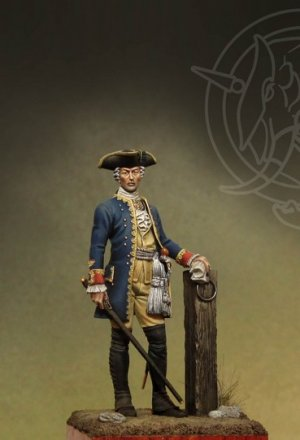 Officer 4th Infantry Rgt. - Prussia 1756  (Vista 1)