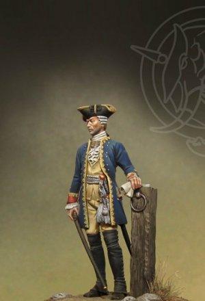 Officer 4th Infantry Rgt. - Prussia 1756  (Vista 2)