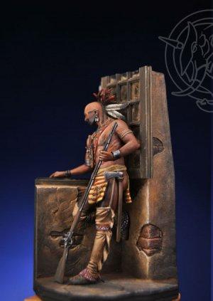 Iroquois Warrior in a Casle - Mid XVIII   (Vista 1)