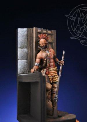 Iroquois Warrior in a Casle - Mid XVIII   (Vista 3)