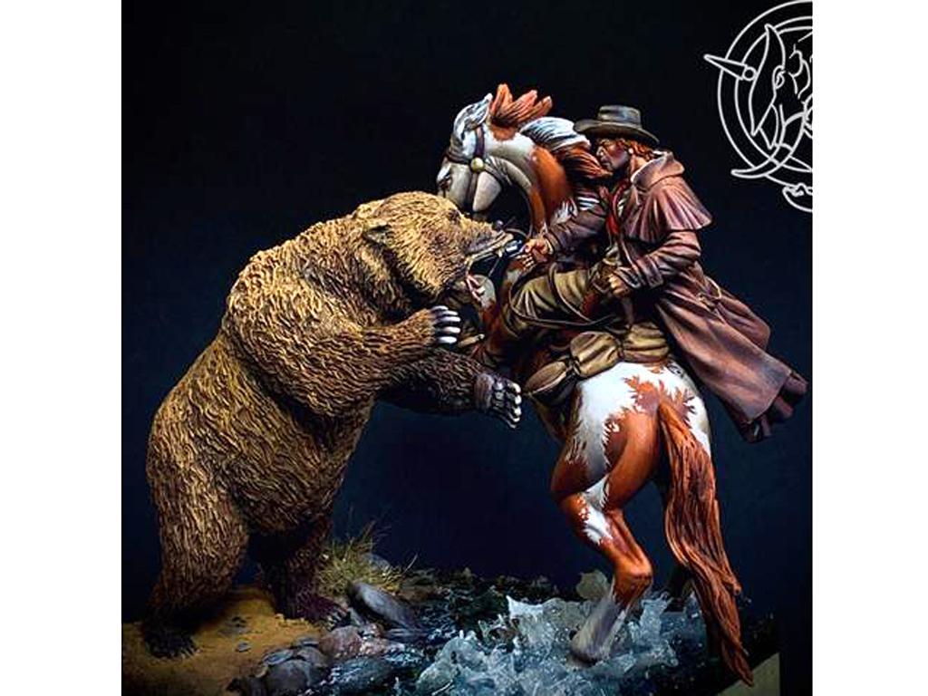 Ataque del oso pardo, 1880 (Vista 1)