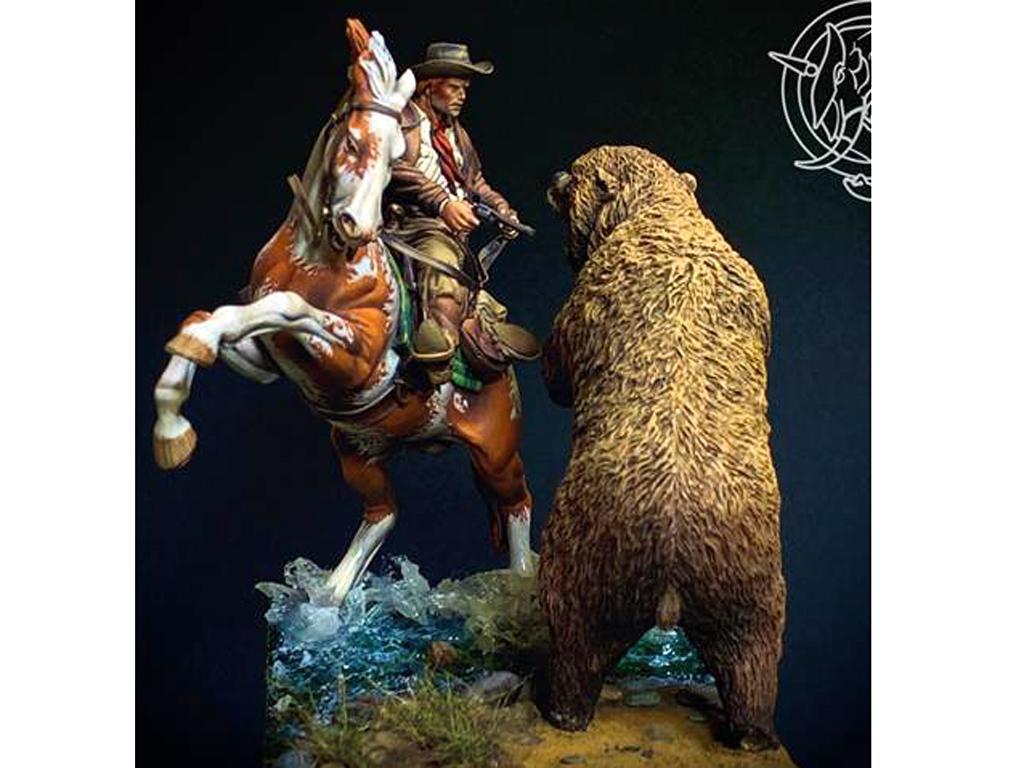 Ataque del oso pardo, 1880 (Vista 3)