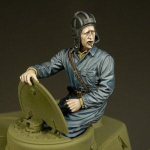 Tanquista Ruso en la torreta  (Vista 1)