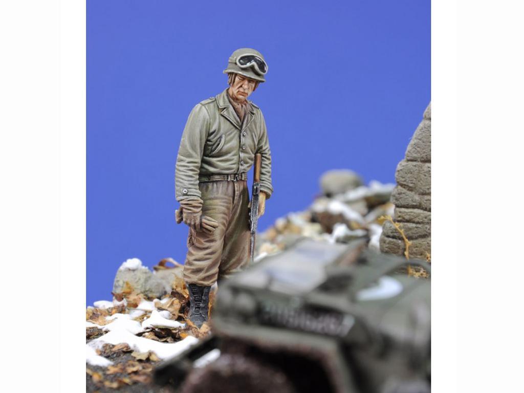 Tanquista US con ametralladora Thompson (Vista 2)