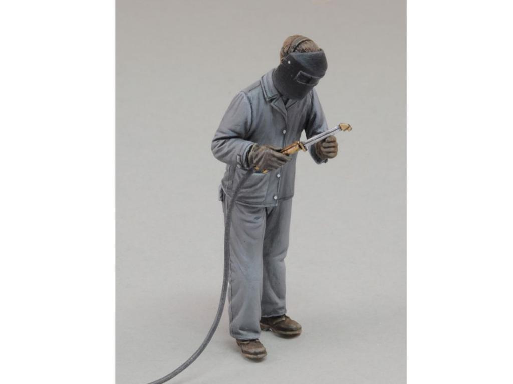 Hombre con soldadora eléctrica Nº 3 (Vista 2)