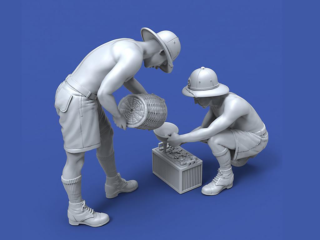 Soldados Italianos mantenimiento de la batería (Vista 4)