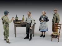 Soldado de los EE.UU. con civiles (Vista 2)